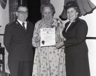 Winnifred-Grant-presented-with-Certificate-of-Appreciation-by-The-Salvation-Army-for-faithful-service.Roland-Sherwood-Photo.1979..Mar-(1)