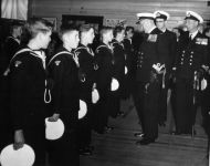 Sea-Cadet-Inspection.l-r.unknown.Ashley-Frank-MacLeod.Gerald-Pebs-Thompson.Robert-Reid.unknown.Labman.Nova.2006